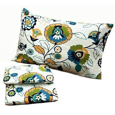 modern floral printed flannel pillowcases