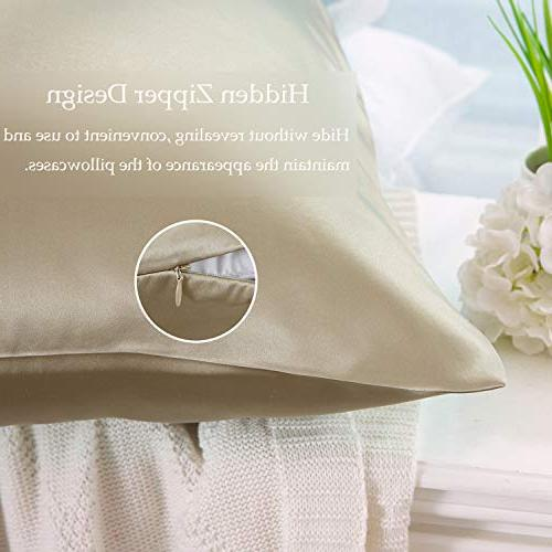 ZIMASILK 100% Mulberry Pillowcase and Skin Health,Both Side Momme Silk,1pc