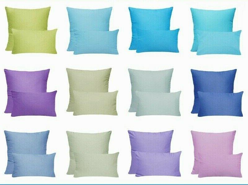 100% Cotton Soft Solid Color Throw PILLOW COVER Sofa Couch C
