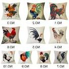 New 18'' Colorful Chicken Rooster Pillow Case Printed Cushio