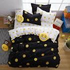 NEW Emoji Bedding Set Smiling Face Duvet Cover with Pillowca