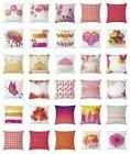 Orange and Pink Throw Pillow Cases Cushion Covers Ambesonne