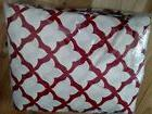 Pottery Barn Organic Marlo Red Twin Sheet Set New Christmas