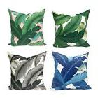 Outdoor Indoor Banana Leaves Throw Pillow Cover, Swaying Pal