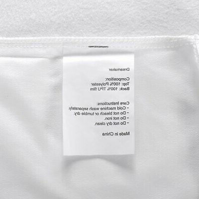 2 Waterproof Soft Pillowcase Hypoallergenic Mite Cover