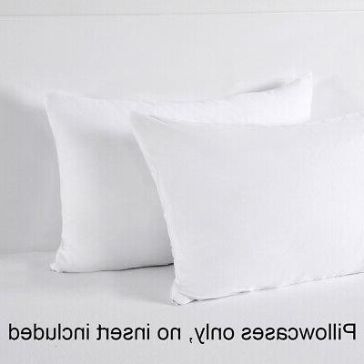 2 Soft Pillowcase Hypoallergenic Bed Mite Protector Cover
