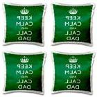 3dRose pc_193563_1 Keep Calm and Call Dad Green Pillow Case,