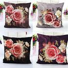 Peony Rose Classic Car Sofa Bed Pillow Case Cushion Cover So