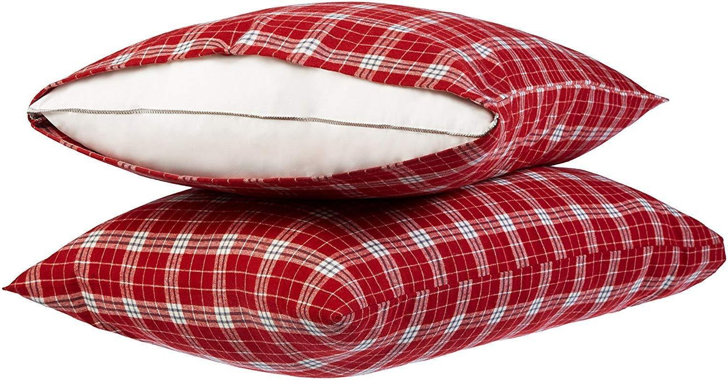 Pillow Case Cover Pillowcases Flannel King Size Strip
