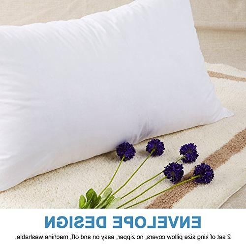 Ado-ric - 2 Pillowcases 100% Brushed Microfiber, Ultra Fade, Stain