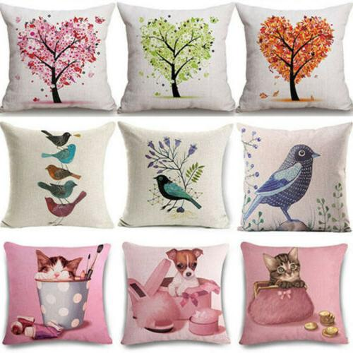 pillow home cushion cat cases sofa covers