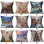 Pillows Case For Christmas Linen Decorative Cushions Covers