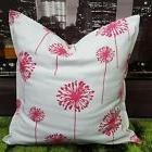 pink and white 18x18  pillow cover/case. Dandelions .Handmad
