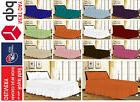Plain Dyed Fitted Valance Sheet Poly-Cotton Bed Sheet Single