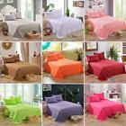 Poly Flat Sheets Comfort Solid Color Bed Covers Pillowcase T