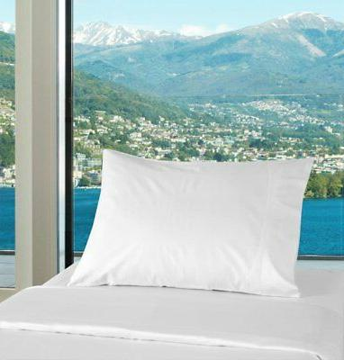 2 Pack 100% Percale Bulk Pillowcases Silk Hotels, Camps, Parties,