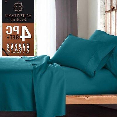 premium 4 piece bed sheet and pillow