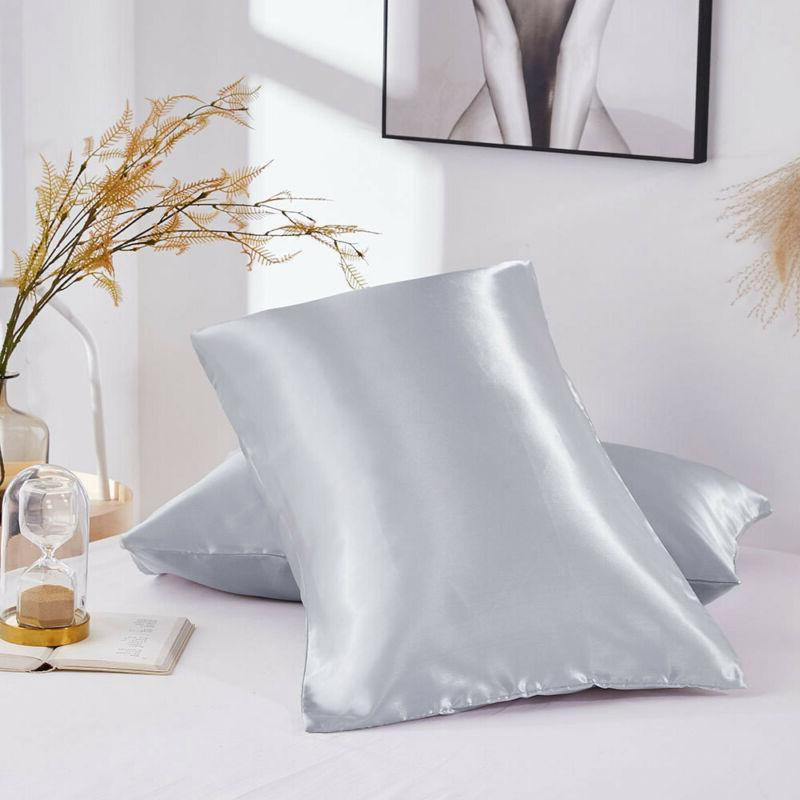 Set Silk Pillowcase Bed Pillow Pillow Covers Ultra Pillowcases