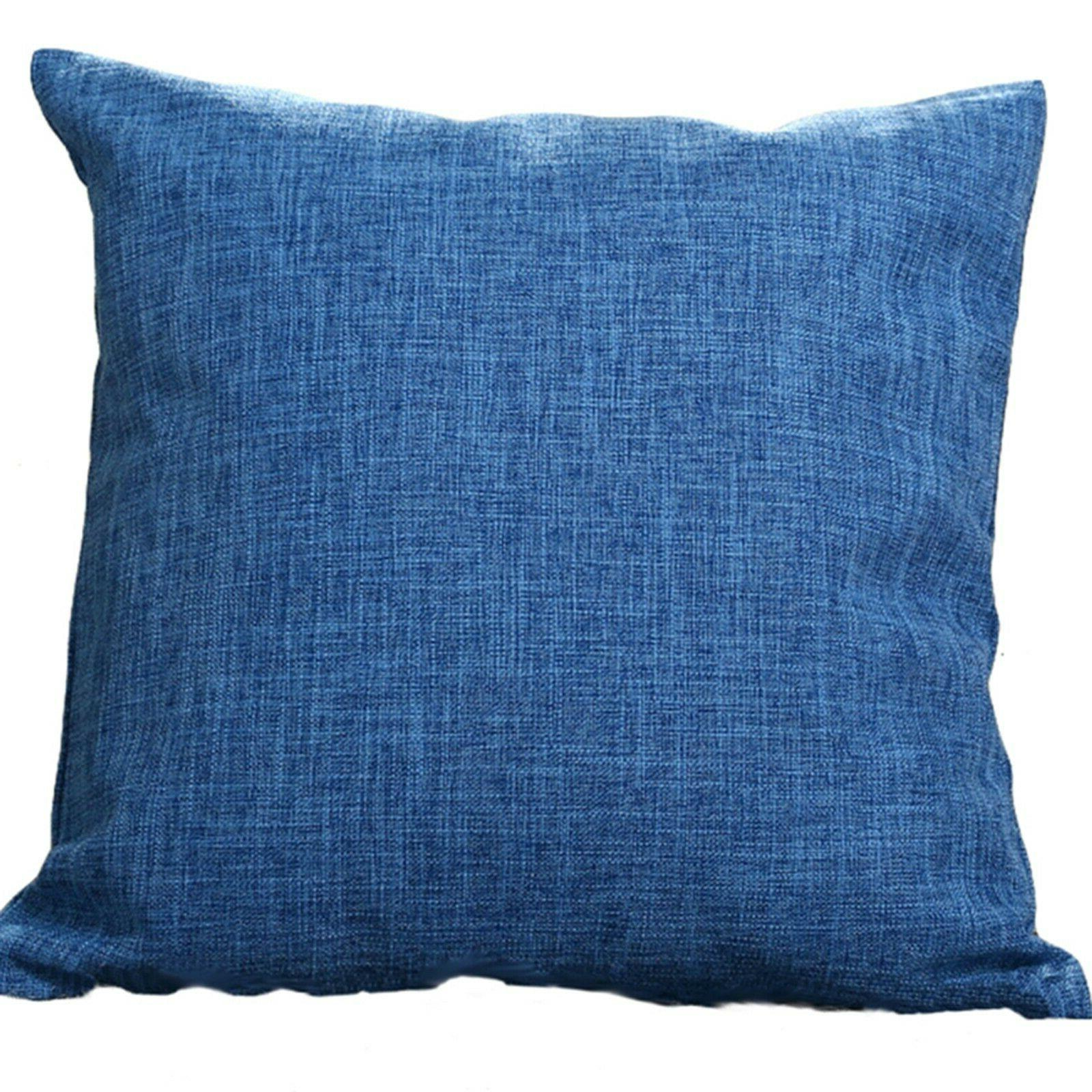 """Set Throw Pillow Cover Case 20"""" solid colors"""