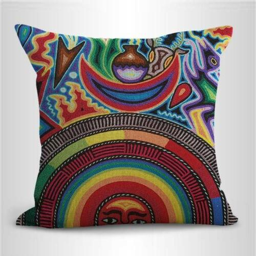 set of art Mexican covers pillow
