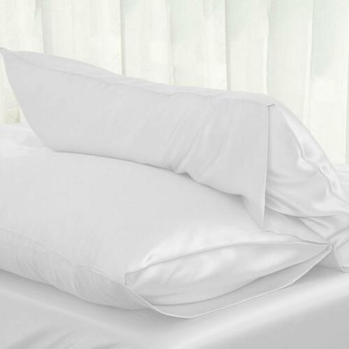 Silk Pillow Cover Pillowcase Size Solid Color