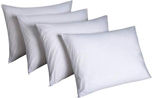 """4 Pack 100% Standard Anti Breathable 20x26"""" Mite Time ReplacementSmooth Fabric Encasement Covers"""
