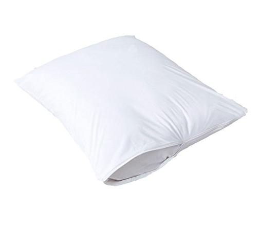 """4 Pack 100% Standard Soft 20x26"""" Bug Fabric Hypoallergenic Covers Cases White"""