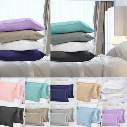 50% OFF - Luxury Satin Pillowcase 2 Pack Pillow Cases Covers