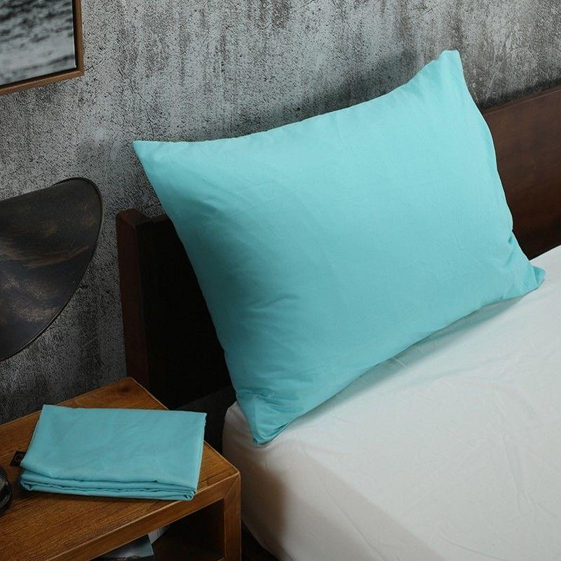 Solid Pillowcases Bedding Pillow Cover Queen Size