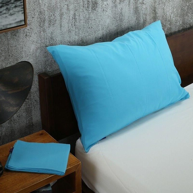 Solid Bed Pillowcases Bedding Pillow Cover Size