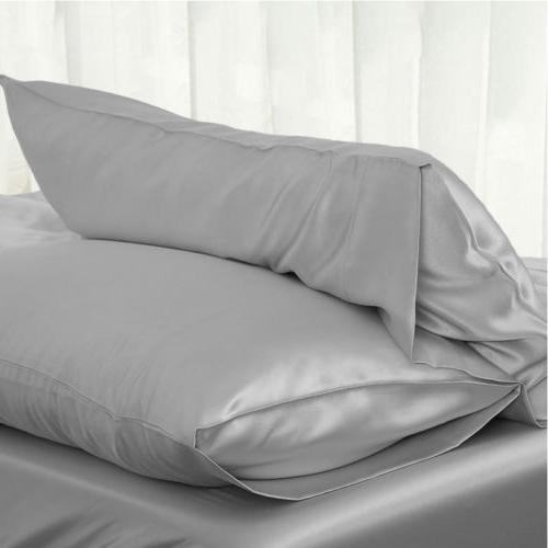 Solid Silk Pillow Bedding Smooth 2019