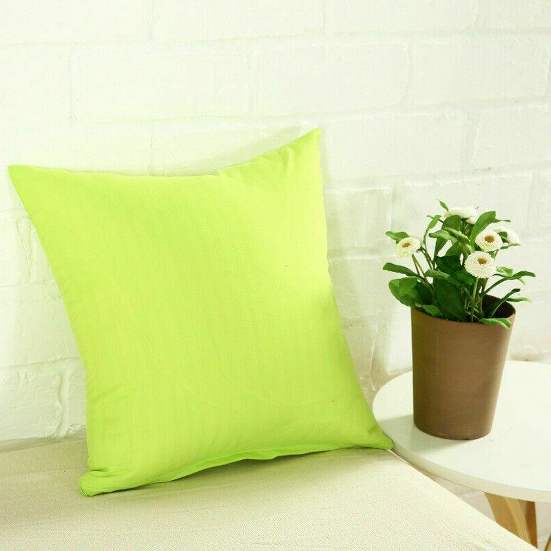 Square Pillowcase Decor Case Cushion Cover Size