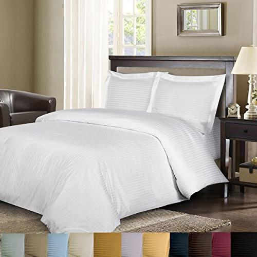 Royal's Striped White 600-Thread-Count 2pc Pair Size 20""