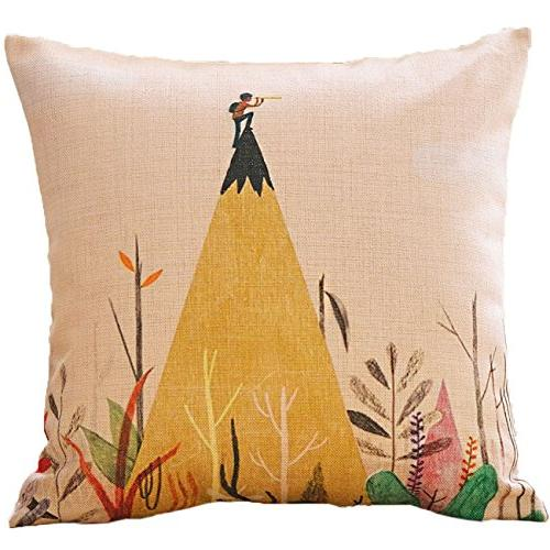 sykting Decorative Throw Covers 18 18 Square Pillow of 5 Coushion Covers Spring Cotton Linen