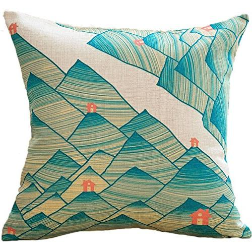 sykting Decorative Pillow Covers x Square Pillow Set Spring