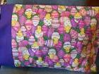 TRAVEL SIZE PILLOW CASE  COLOR FULL EASTER EGGS W/CHICKS PUR