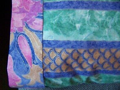 TRAVEL SIZE PILLOW VIBRANT SPRING FLORAL STRIPES /FLORAL CUFF #9808