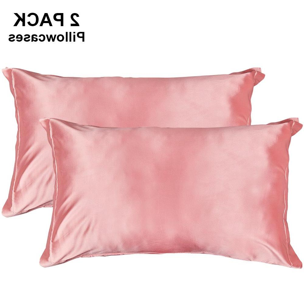 two pack silky satin pillowcases for hair