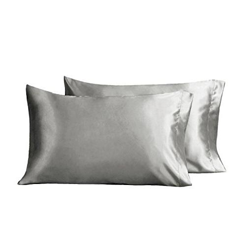 two satin pillowcases set