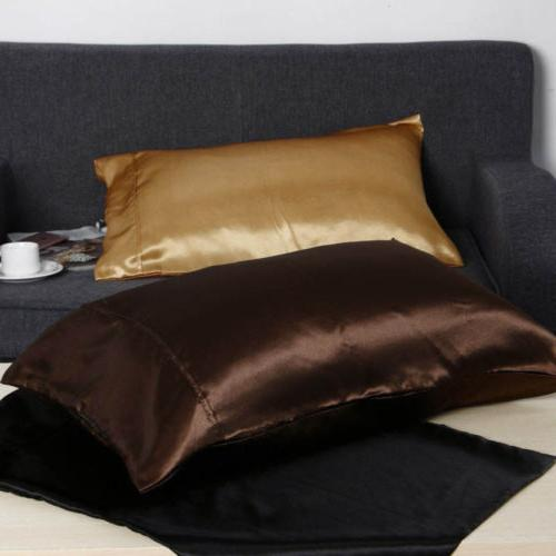 US Silk Pillow Case Cover Standard Size