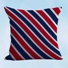 US Seller- pillow case for American patriotic navy red strip