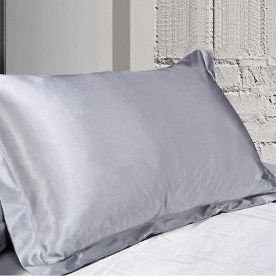 NEW Solid Queen/Standard Satin Pillow Case Pillowcase Smooth