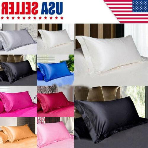 USA Solid Queen/Standard Pillow Case Bedding Pillowcase Smoo
