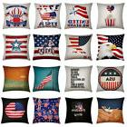 Vintage American Flag 4th of July Pillow Cases Linen Cushion