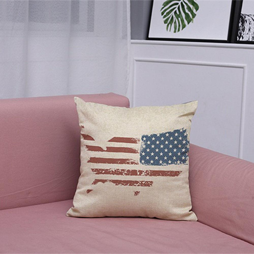 Vintage American Pillow Cushion Cover Home