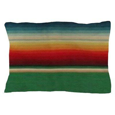 CafePress - Vintage Green Mexican Serape - Standard Size Pil