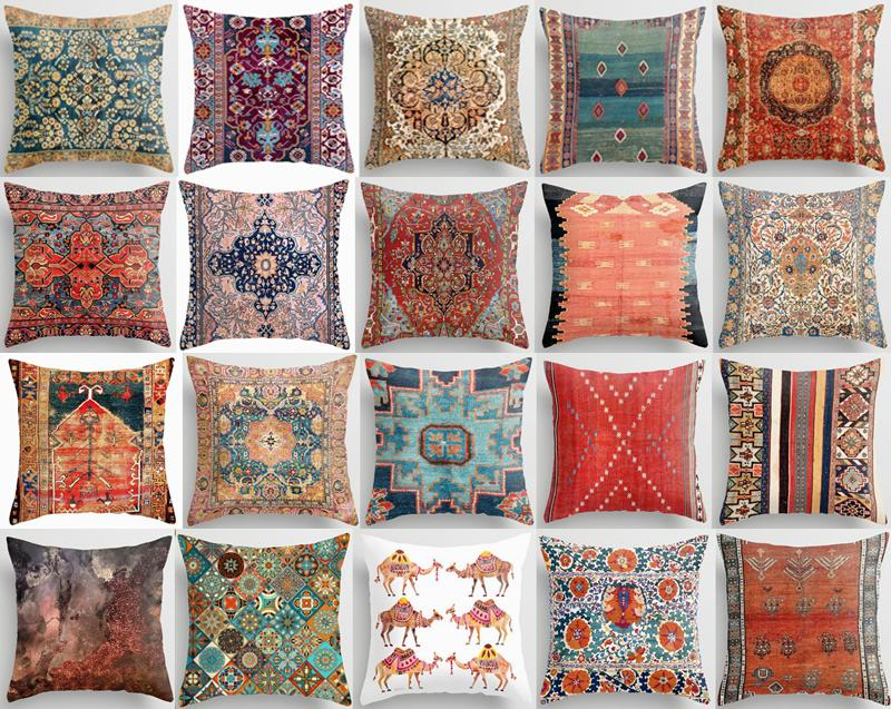 pillow cover tapestry kilim rug digital print