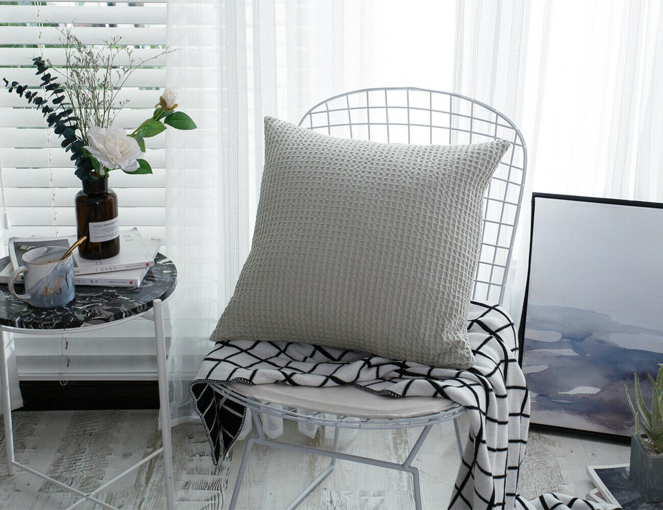 waffle weave throw pillow case cushion covers