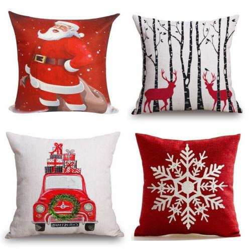 Xmas Pattern Pillow Case Square Standard Size Colorful Shipping