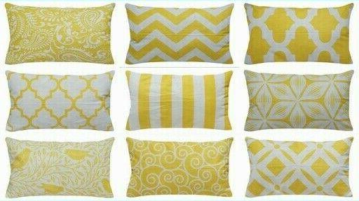 """12x20"""" Yellow Accent Throw PILLOW COVER Sofa Couch Bed Home"""